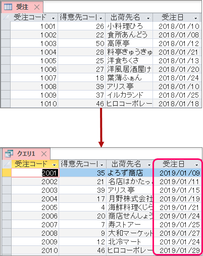 ACCESS】「~日以降」や「~日以前」のデータを抽出する方法   きまま ...