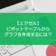 【エクセル】ピボットテーブルからグラフを作成するには?